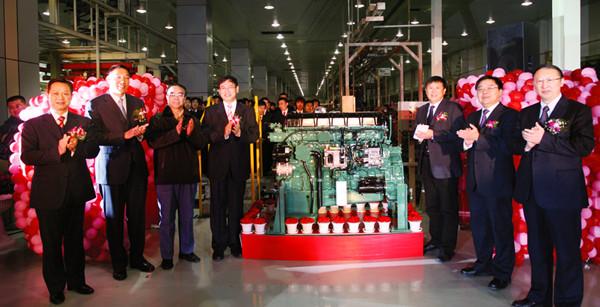 2008年12月22日,CA6DM2柴油机投产仪式